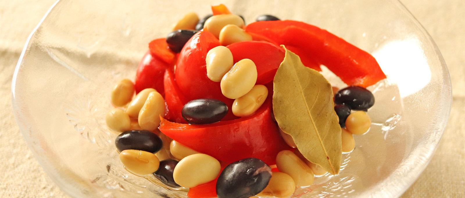 お豆とパプリカのお手軽ピクルス