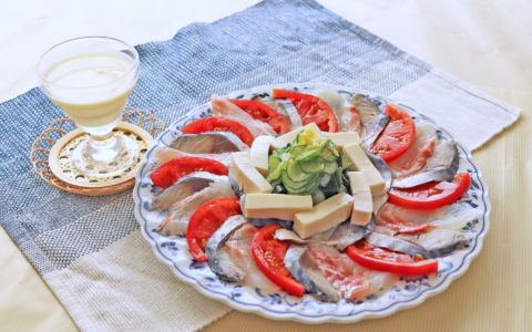 鯛のチェリー酢パイナップルマリネ